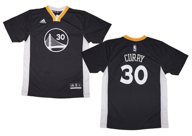 check out 0358a 440cb Youth Stephen Curry Golden State Warriors NBA Adidas Short Sleeve Replica  Jersey