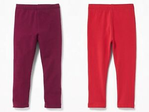 2c9e6c95babb7 NWT Old Navy Toddler Girls Full Length Jersey Leggings Pants Red ...