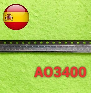 5pcs Ao3400 A09t A01t N-canal Transistor Mosfet Sot-23 Smd Envío Rápido España Produits De Qualité Selon La Qualité