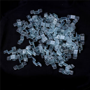 100pcs-10mm-LED-Fixing-Silicon-Mounting-Clips-LED-Strip-Light-Connector-Clips-ZY