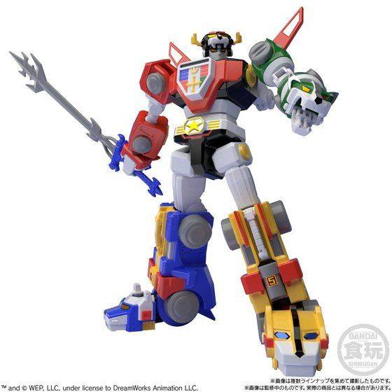 BANDAI SUPER MINI-PLA DEFENDER OF THE UNIVERSE VOLTRON GOLION Modell KIT 18cm