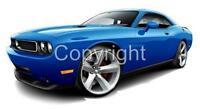 2009-2011 Dodge Challenger Muscle Car Art Cartoon Tshirt #9461 automotive art