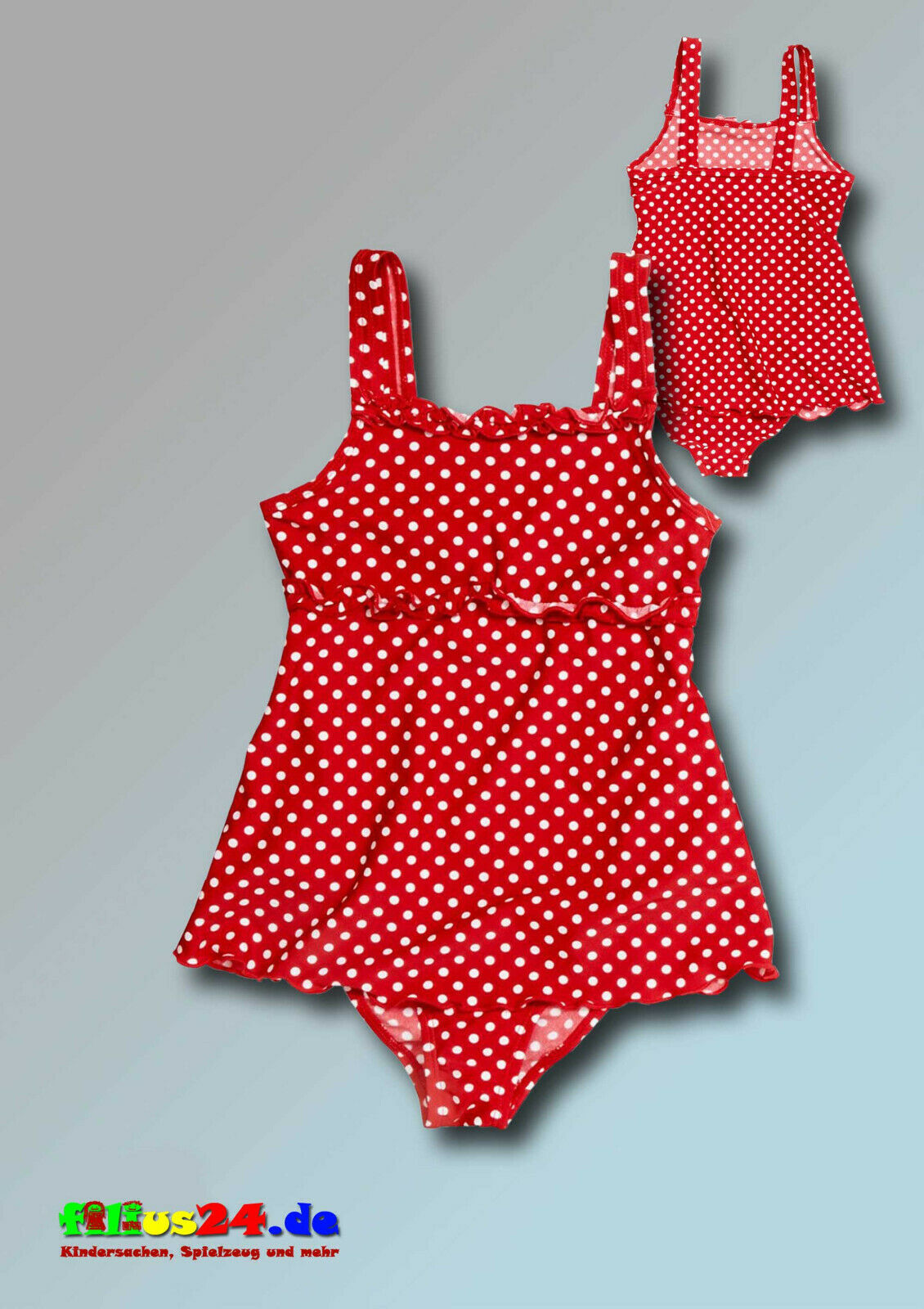 Playshoes UV Protection Girls Swimsuit Skirt Red With Dots