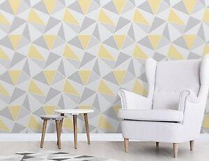 Das Bild Wird Geladen Feine Dekor Apex Tapete Geometrictriangle Modern Muster Gelb