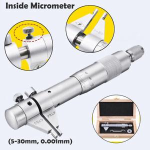 Details about 5 - 30mm 0 01mm Inside Micrometer Caliper Gauge Internal  Diameter Measuring Tool