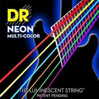 DR Strings NMCE10 Medium Hi-Def NEON™ Multi-Color: Coated Electric: