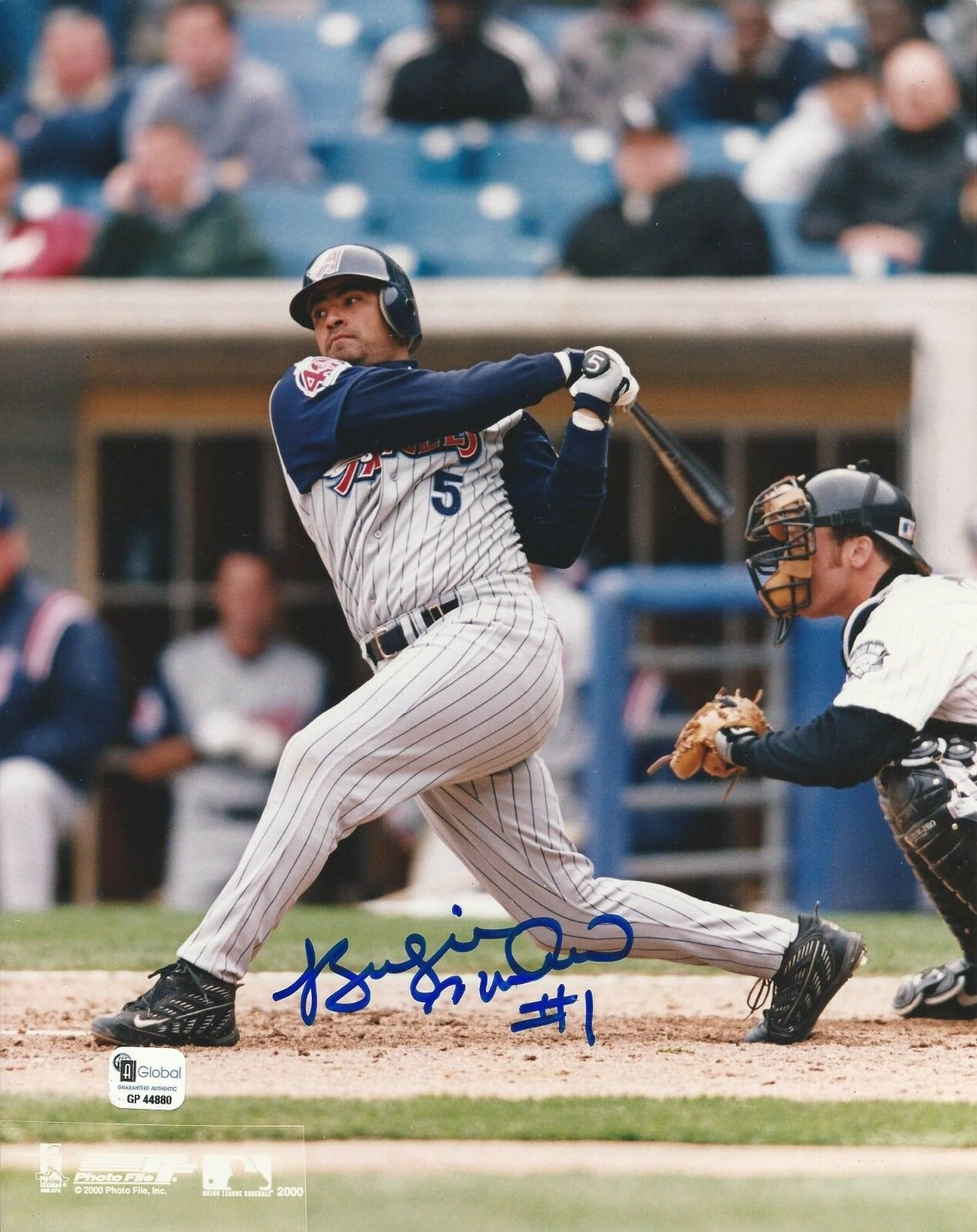 Benjie Molina Anaheim Angels signed 8x10 photo GAI Cert# GP44880