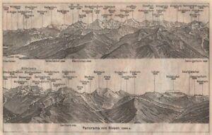 Fashion Style Panorama From/von Niesen 2366m Maps, Atlases & Globes Blumisalp Jungfrau Switzerland Schweiz 1911 Map Moderate Cost