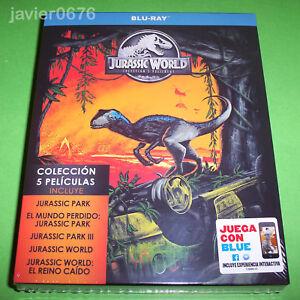 JURASSIC-WORLD-COLECCION-5-PELICULAS-EN-BLU-RAY-PACK-NUEVO-Y-PRECINTADO