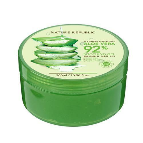 NATURE REPUBLIC ALOE VERA 92% Soothing Gel 300ml 10.56 fl.oz moisture sample