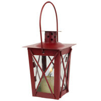 Red Mini Colonial Williamsburg Votive Lantern Tealight Candle Decor Party