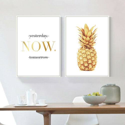 Pineapple Motivational Quote Canvas Poster Prints Wall Home Decor