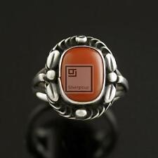Georg Jensen Silver Ring w/ Coral - #1 - VINTAGE