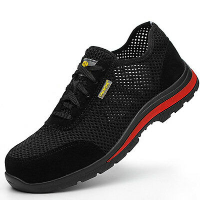 Mens Lightweight Safety Steel Toe Work Shoes Hiking Boots Mesh Sneakers Fashion