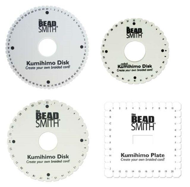 Beadsmith Kumihimo Braiding Disc WITH INSTRUCTIONS 6
