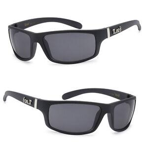 LC38 Matte Black Locs Mens Cholo UV400 Biker Sunglasses