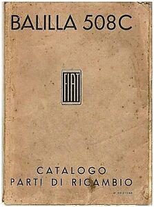 FIAT-Balilla-508-C-CATALOGO-PARTI-DI-RICAMBIO-Spare-Parts