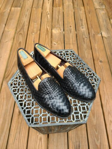 Bragano Cole Haan Black Leather Loafers Men's Size