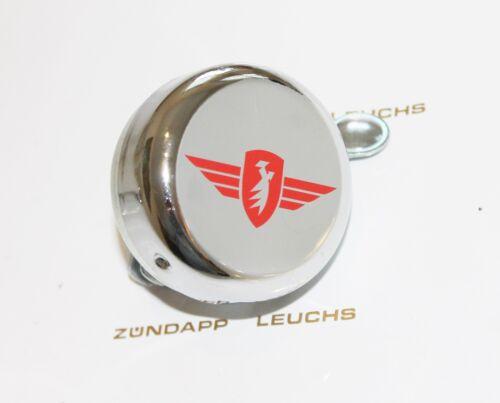 Zündapp Glocke Klingel Chrom Flügel ROT 400-17.610 A 25 X 25 Typ 460