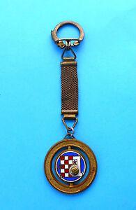 GNK DINAMO Zagreb Croatia football soccer club vintage enamel keychain 25. ANNIV