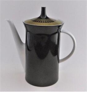 Rosenthal-Studio-Line-Linie-PALAIS-Gold-Boxes-amp-Lines-Coffee-Pot-w-Lid