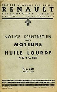 RENAULT-NOTICE-D-039-ENTRETIEN-POUR-MOTEURS-A-HUILE-LOURDE-4-ET-6-C-125-1935