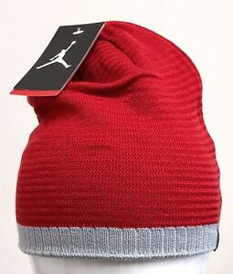 06e97f20fa7 Image is loading JORDAN-BEANIE-Gym-Red-Wolf-Grey-686941-687