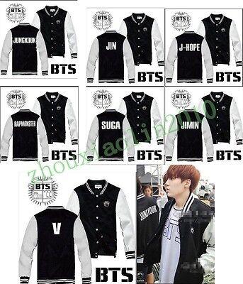 Kpop BTS Super Bangtan Boys Hot Fashion Buttons Coat Warm sweater Jacket New