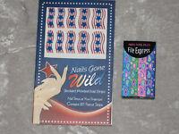 Patriotic Nail Strips Stars Stripes 12 Mini Nail Files 4 Colors Fingertips