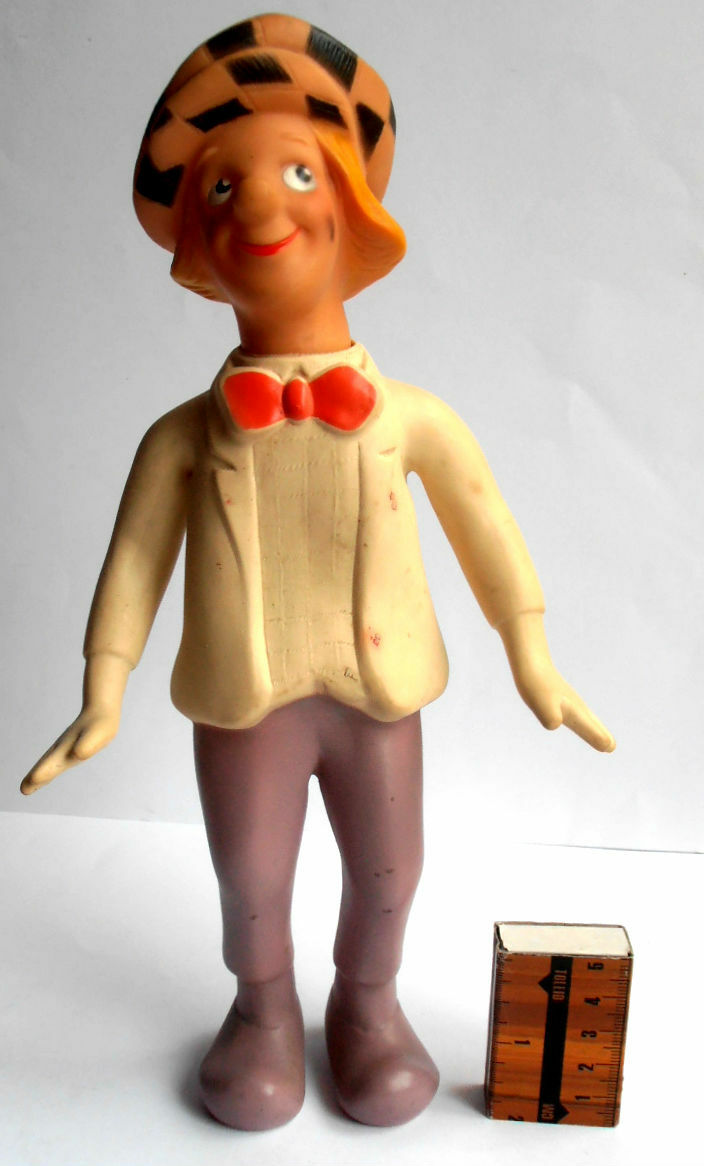 1970s USSR Great Russian Soviet CLOWN Circus Circus Circus Actor OLEG POPOV Rubber Toy Doll eac388