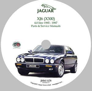 1995 1997 jaguar x300 xj6 xjr parts service manual cd rom rh ebay com 1990 Jaguar 1990 Jaguar