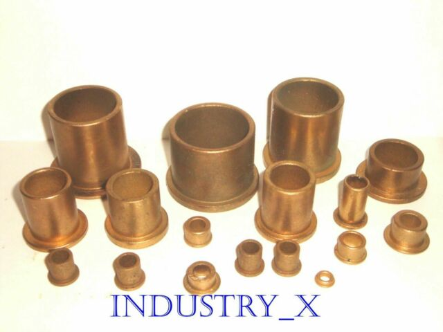 Oilite Flange Bushing Bronze 5//8 id x 3//4 od x1 Brass Bearing Shim Spacer-NEW