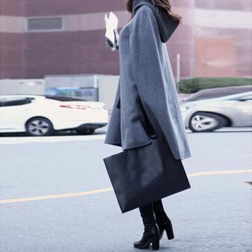 Women Ladies Loose Batwing Wool Poncho Cloak Winter Warm Coat Jacket Cape Parka