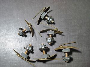 6 pcs NORS fender quarter body belt side moulding clips sealer nuts fits Ford