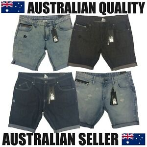 Men-039-s-denim-shorts-best-quality-Australian-label-slim-fit-was-89