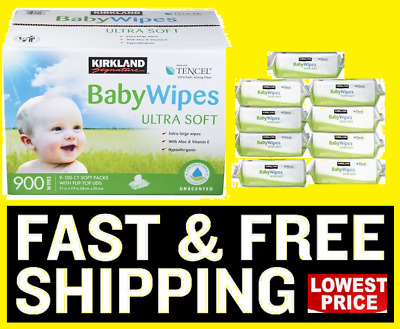 900 Wipes Costco Kirkland Signature Baby Wipes With Aloe FAST FREE SHIPPING