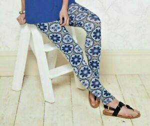 Inventive New From 'b. You' Full Length Floral Leggings ~ Uk Size Small ~ Bnwt