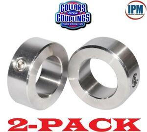 "zinc plated FREE standard shipping! 2 PCS set shaft collar 1-3//16"" bore"