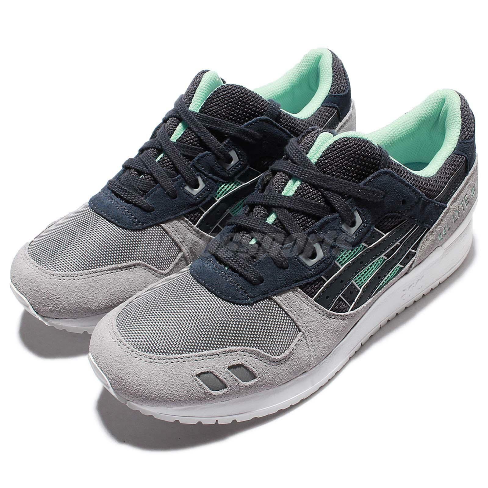Asics Tiger Gel-Lyte III 3 India Ink gris Mens Retro Running zapatos H6X2L-5050