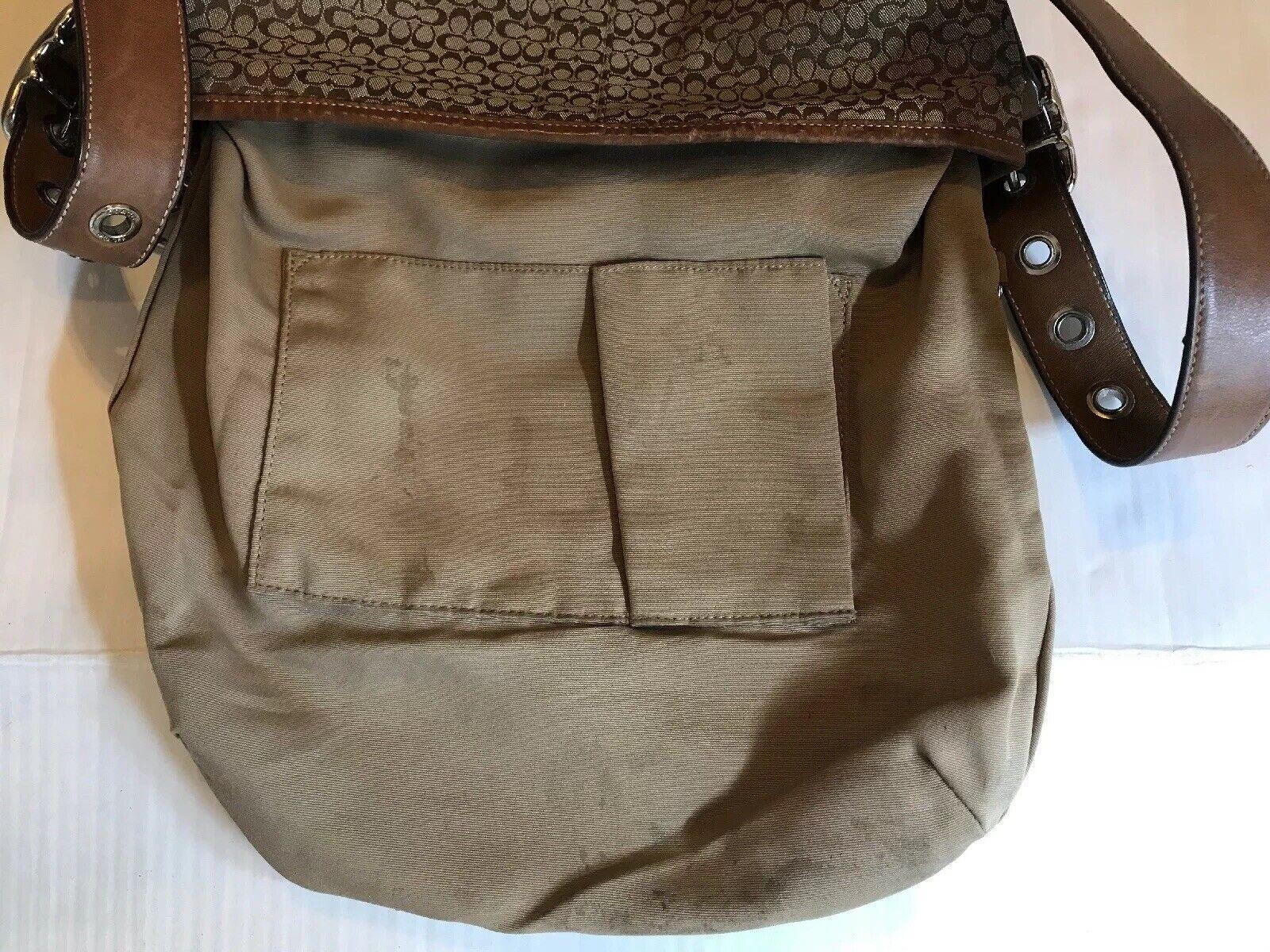 Coach Monogram Canvas Tan Crossbody/Shoulder Bag - image 5