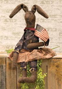Primitive//Folk Art  HONEY BUNNY DOLL Country Farmhouse Spring//Easter FREE SHIP