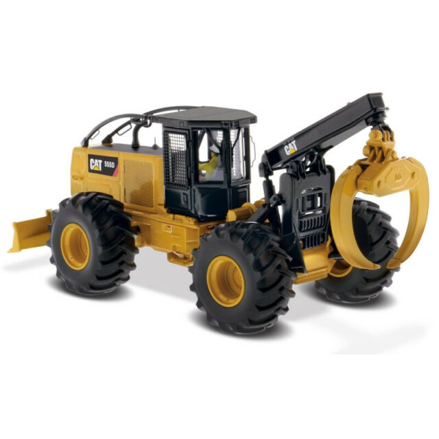 Diecast Masters Caterpillar CAT 555d Wheel Skidder With Log Claw 85932