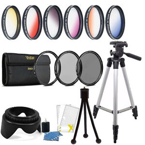 58-mm-Couleur-Filtre-UV-Circulaire-Polariseur-densite-neutre-Kit-d-039-accessoires-Canon-EOS-Rebel