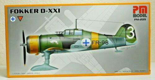 D-21 PM Model PM 209 Fokker D-XXI WWII German Fighter Plane   1//72 Scale Kit