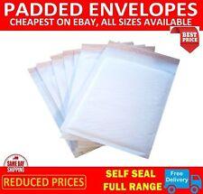 White Padded Bubble Envelopes Bags Postal Wrap All Sizes Various Quantites