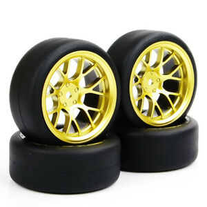 4X-Tires-Foam-Inserts-amp-Wheel-Rims-For-1-10-Scale-HPI-Drifting-RC-Car-PP0338-DHG