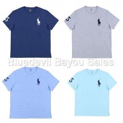 Polo Ralph Lauren Mens Crew Neck T-Shirt Embroidered Big Pony Logo | eBay