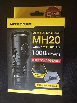 NEW NITECORE MH20 1000 Lumen LED Flashlight W/ nl189 battery