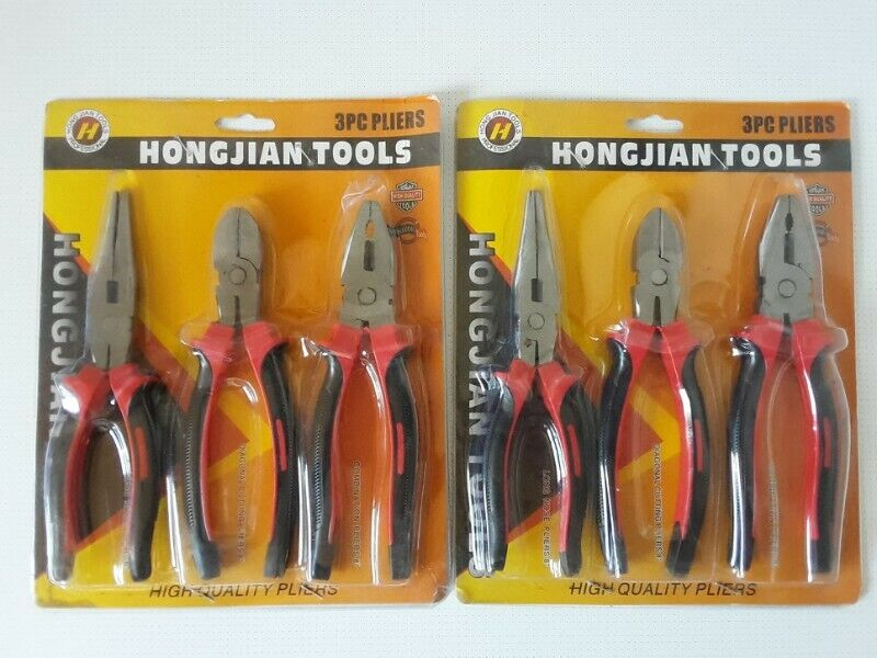 Pliers Set of three. Two sets to choose from. Brand new. Sealed. High quality. R140 per Set.