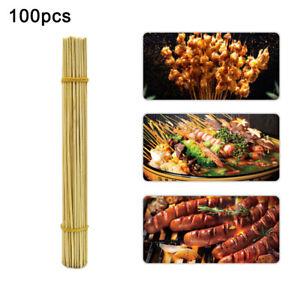 Sn-100PCS-Bambu-Marshmallow-Smores-da-Arrosto-Barbecue-Bastone-30cmX2-5mm-US-St
